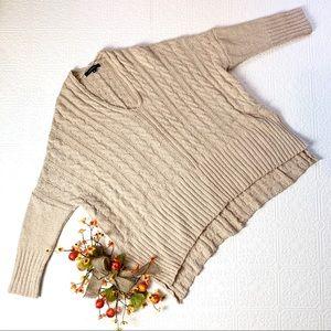 Olivaceous Wool Blend Dolman Sleeve Sweater SZ M